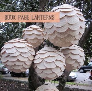 Bookpagelanterns