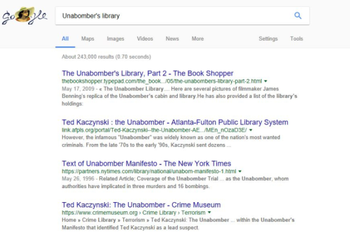 Unabombersearch