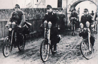 German WW2 panzerfaust bicycle troops